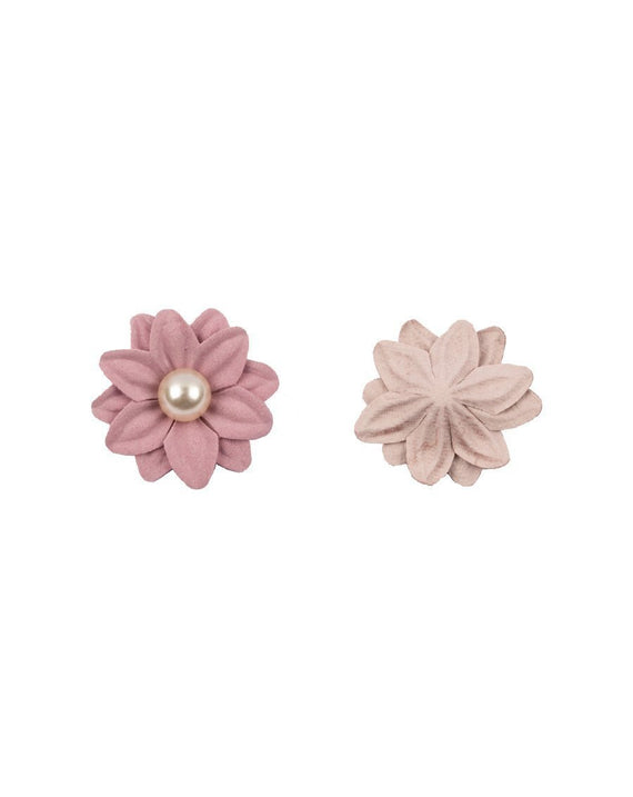 3D flower patch with Pearl Stone PINK