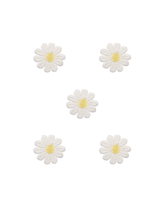 Daisy Flower Fabric Patch