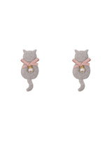 Cat Soft Padded Fabric Patch-Grey