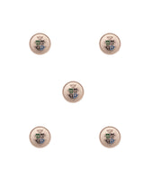 Designer Unisex metal buttons in silver military design-Silver