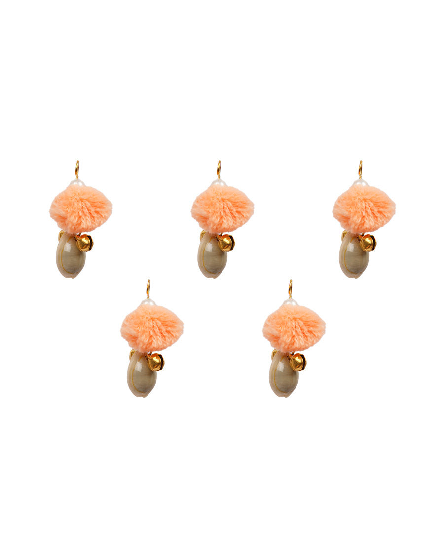 Small Shell pom pom Latkans-Peach