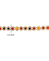 Multi Colour Flower Lace
