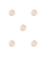 Designer Unisex metal buttons in paisa coin design-Water Gold