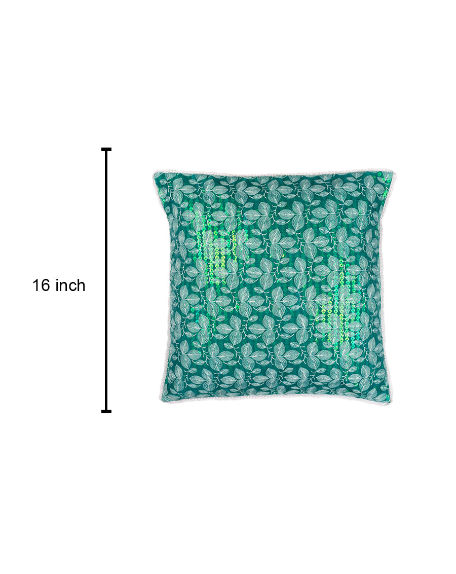 Sequins Embellished Cushion Cover