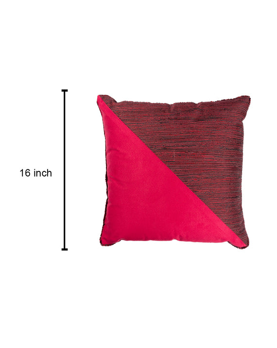 Pink Colour Block Cushion Cover