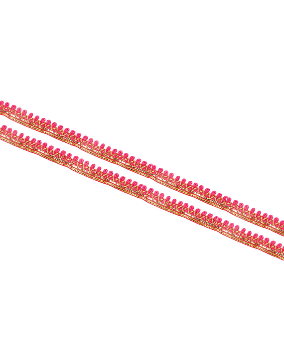 Thin thread loop lace-Pink