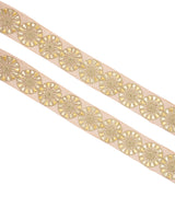 Golden Circular Double Gota Work Lace