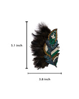 Fur Feather Patch-Grey