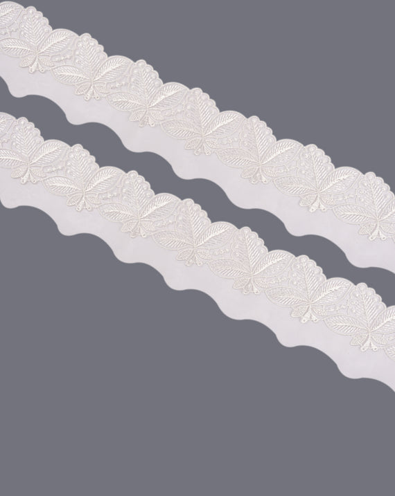 Dyeable organza embroidery lace