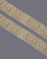 Water Gold zari scallop lace