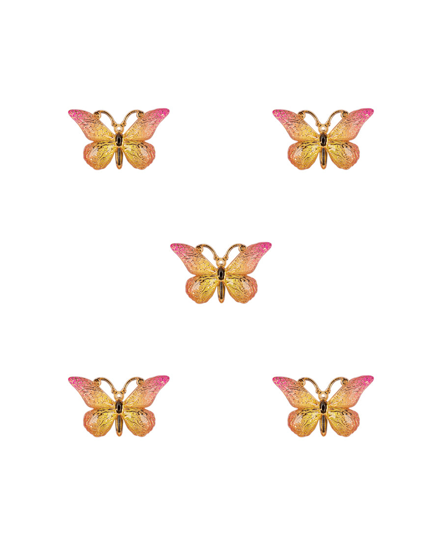 Butterfly Resin Patch-Yellow
