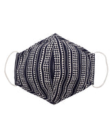 Navy Blue tribal stripe face mask
