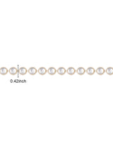 Warer Gold Plated white stones Plastic base Chain