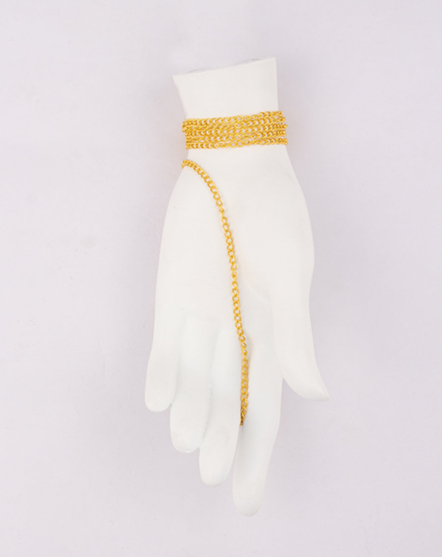 Bright Golden Plated Cable Metal Chain