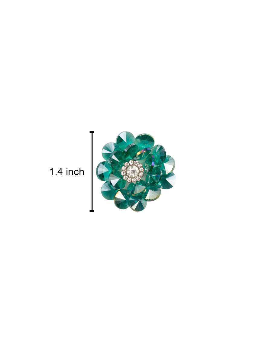 Crystal Flower handmade Patch-Green