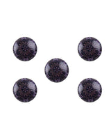 Nafi - Black & Violet Buttons