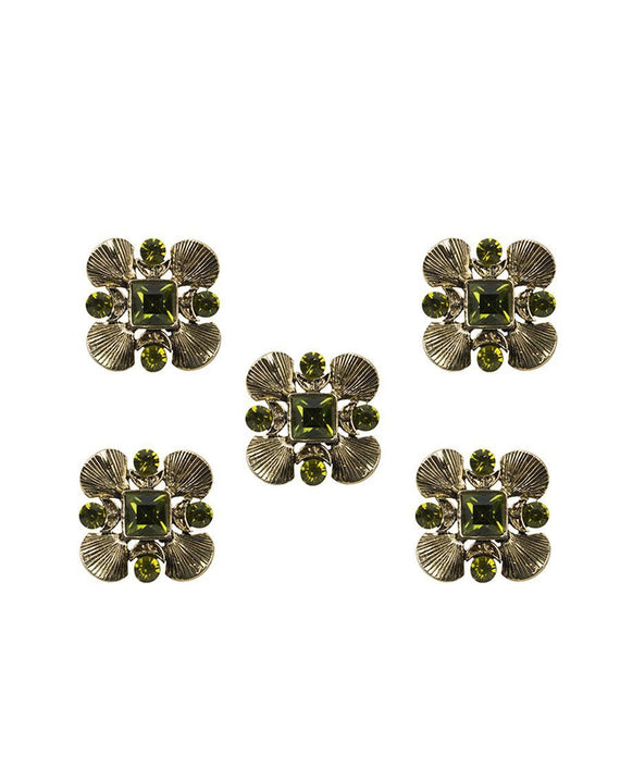 Jhara - Light Green Metal Buttons