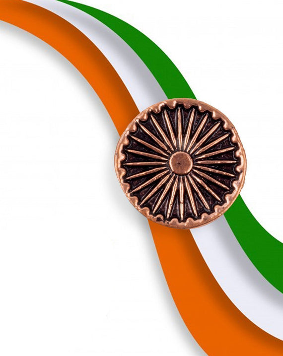 Ashok Chakra Button - Rose Gold
