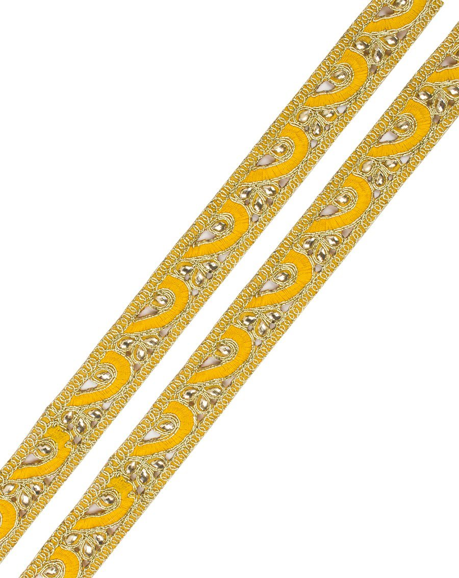 Aasif- Yellow Kundan Work Lace