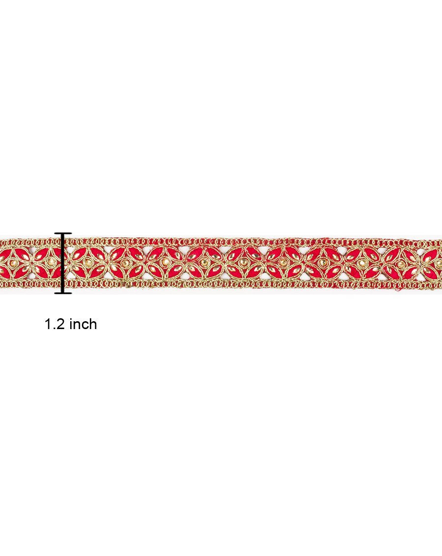 Aasif- Red Cut work Kundan Lace