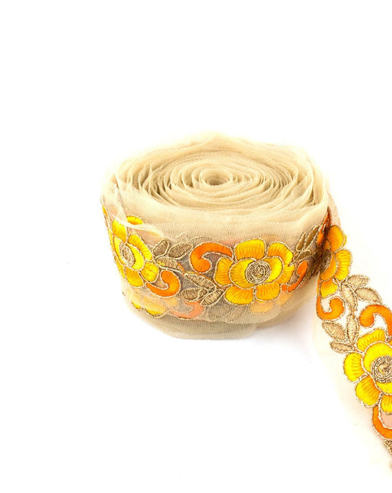 Riyad Lace - Yellow & Orange