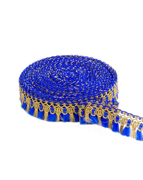 Rahil- Royal Blue Fringe Lace