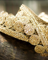 Akru-Golden Kundan Stone Work Lace