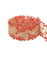 Pablo- Red Cutwork Lace