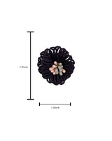 3D Flower Applique for embroidery Navy Blue