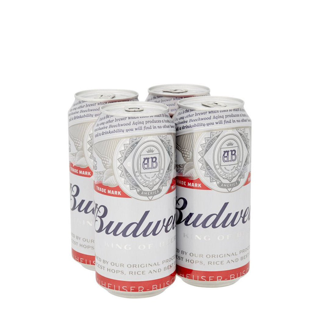 Budweiser cans  500 ml x 4
