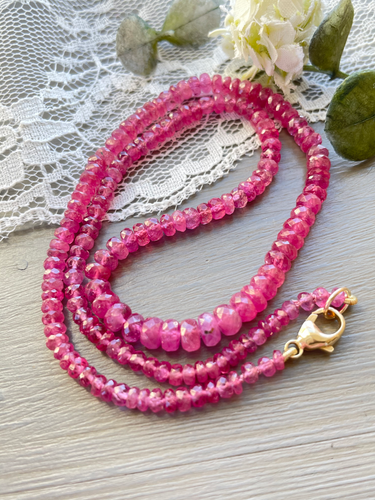 Reserved for Julia-Ruby Candy Necklace