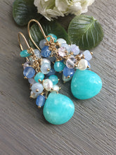 Load image into Gallery viewer, Amazonite Cluster Earrings