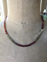 Load image into Gallery viewer, Multi Colored Garnet Necklace