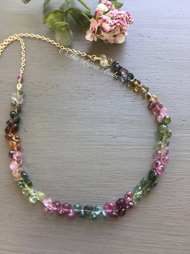 Tourmaline Briolette Necklace