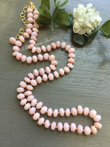 Pink Peruvian Opal Candy Necklace #2