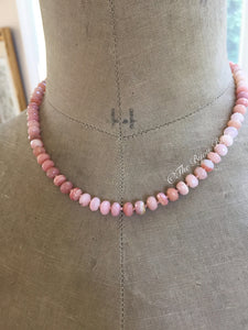 Pink Peruvian Opal Candy Necklace #3