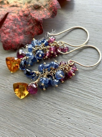 Citrine Cluster Earrings