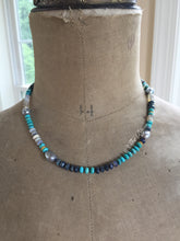 Load image into Gallery viewer, Reserved for M-18k Australian Opal and Sleeping Beauty Turquoise Necklace
