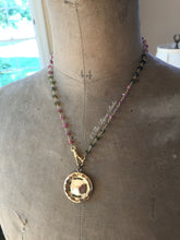 Load image into Gallery viewer, Tourmaline Charm Holder Necklace