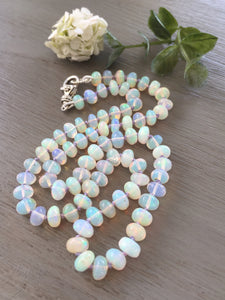 Ethiopian Opal Necklace Smooth Polished Opals
