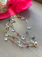 Charger l'image dans la galerie, Blue Topaz and Multi Gemstone Necklace