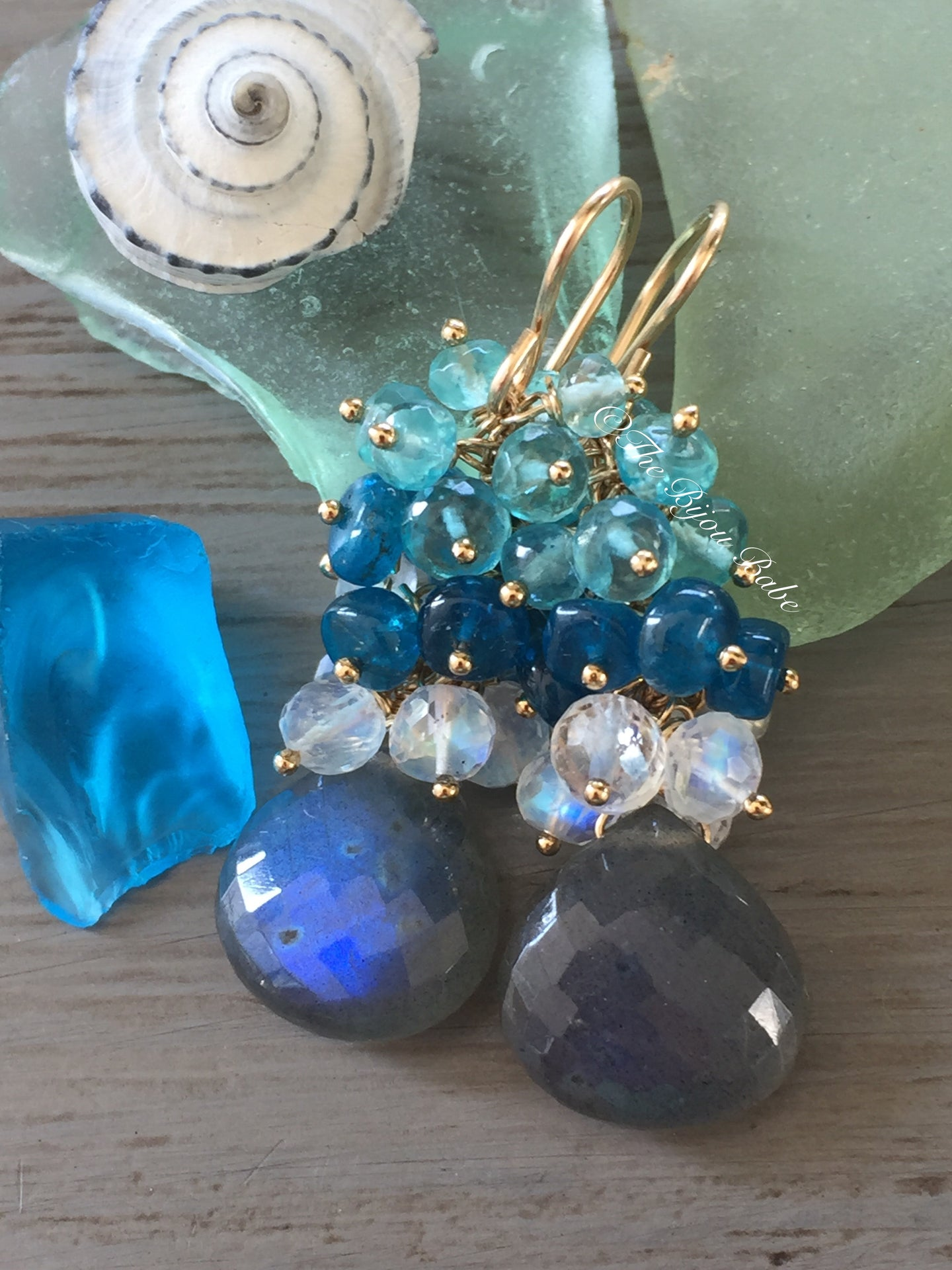 Labradorite Cluster Earrings
