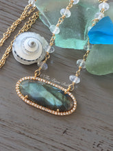 Load image into Gallery viewer, Labradorite Bezel Pendant