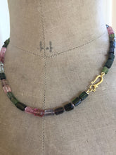 Load image into Gallery viewer, Tourmaline Tube Bead Necklace