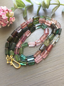 Tourmaline Tube Bead Necklace