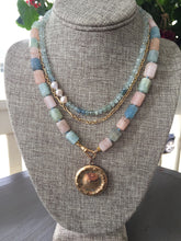 Load image into Gallery viewer, Aquamarine Tube Bead Necklace