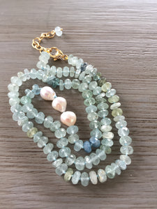 Moss Aquamarine Candy Necklace