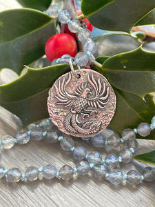 Phoenix Sterling Silver Ancient Coin Replica-Reserved for Danielle