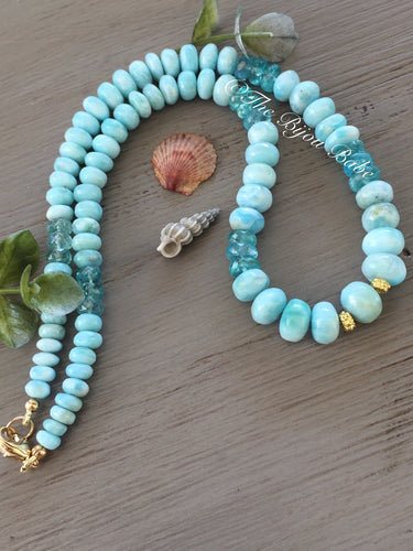 Larimar 14kt Gold Necklace