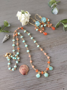 Amazonite Disc Necklace